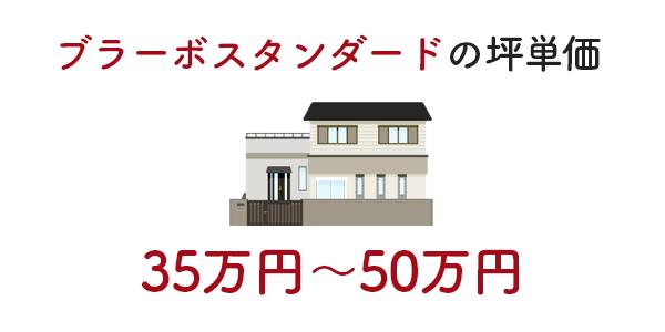 ブラーボスタンダードの坪単価は35万〜50万円