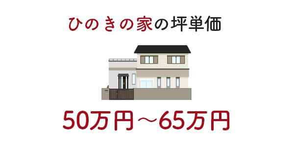 ひのきの家の坪単価