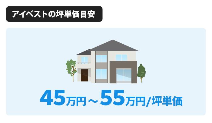 アイベストの坪単価は45万〜55万円