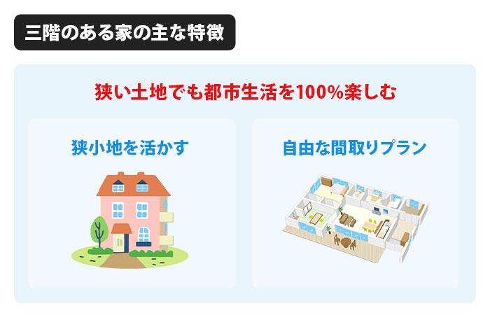 三階のある家の主な特徴