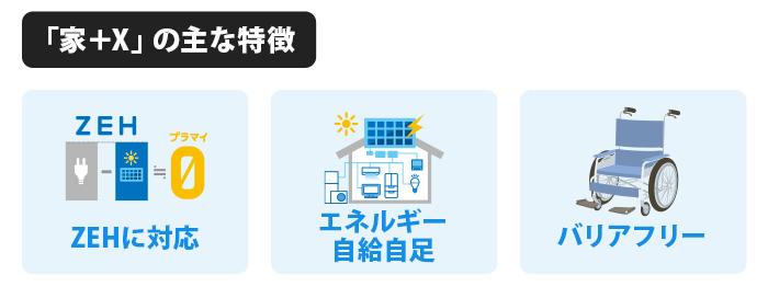 「家+X」の主な特徴
