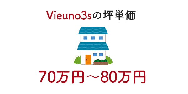 Vieuno3s(ビューノ スリーエス)の坪単価