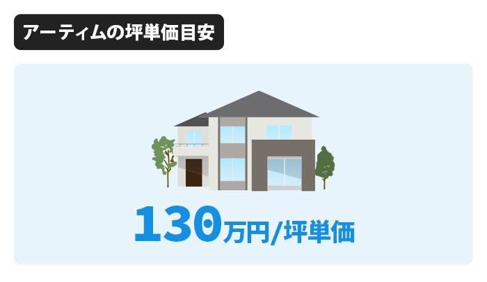 アーティムの坪単価は130万円