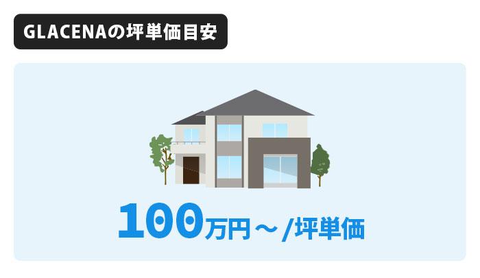 GLACENAの坪単価は100万円から